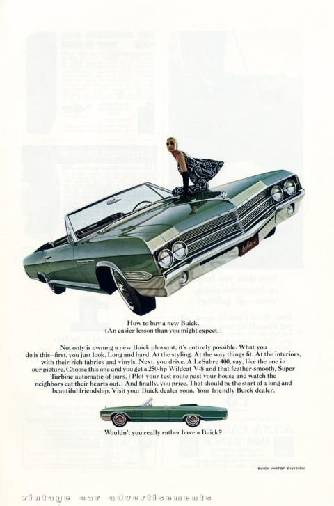 Buick LeSabre 1965 print advertisement