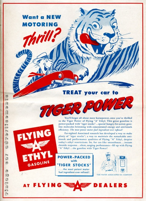 1951 Flying A gasoline advertisement
