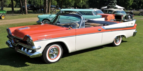 Recent photo of a rare convertible version of 1957 Dodge Custom Royal Lancer
