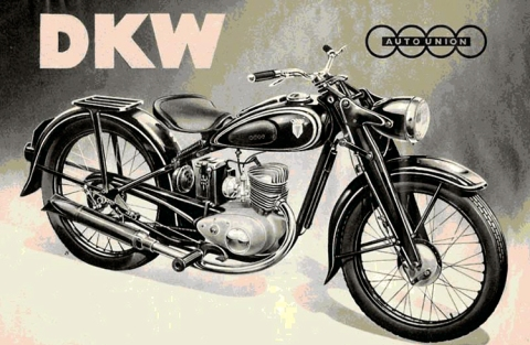 DKW motorcycle ad, circa 1930s