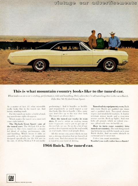 1966 print ad for the Buick Skylark car